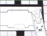Mezery mezi jednotlivými pásky keramiky propočteme v závislosti na průměru bubnu